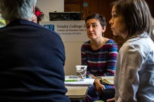 Working Groups at the May meeting of the Irish Research Network in Childhood Bilingualism and Multilingualism, Trinity College