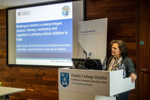 Keynote talk by Prof. Ianthi Tsimpli, University of Cambridge: Multilingual children in underprivileged contexts: literacy, numeracy and cognition in primary school children in India.