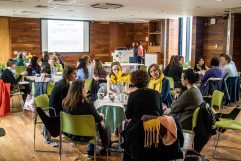 World Cafe on Bilingualism at the May meeting of the Irish Research Network in Childhood Bilingualism and Multilingualism, Trinity College
